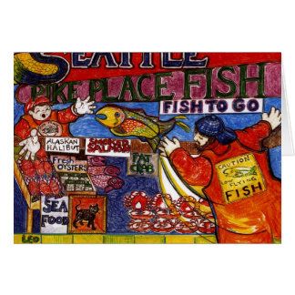 Seattle Fish Market Card
