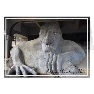 Seattle Fremont Troll Blank Greeting Card