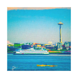 Seattle from Alki Point Canvas Print