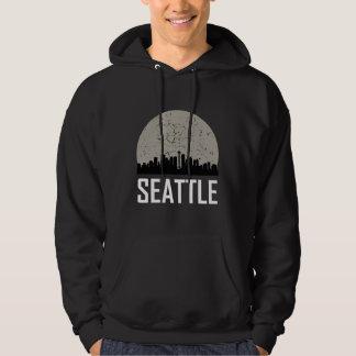 Seattle Full Moon Skyline Hoodie