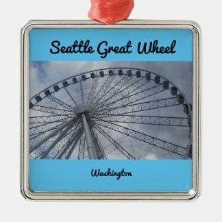 Seattle Great Wheel Puget Sound Washington Metal Ornament