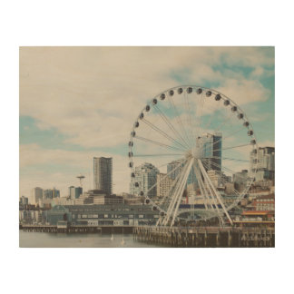 Seattle Great Wheel Wood Canvases