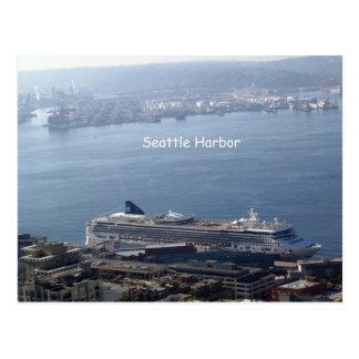 Seattle harbor postcard