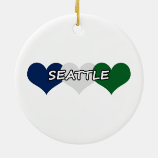 Seattle Heart Ceramic Ornament