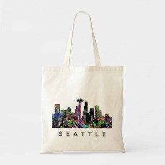 Seattle in graffiti tote bag