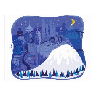Seattle Landscape with Mount Rainier Post Cards