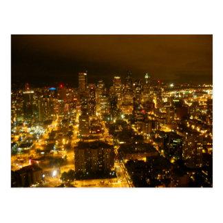 Seattle lights post card