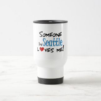 Seattle love travel mug