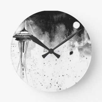 Seattle Mists Round Clock