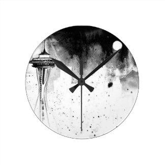 Seattle Mists Round Clock