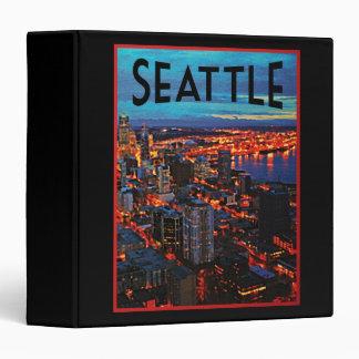 Seattle Night Skyline Binder