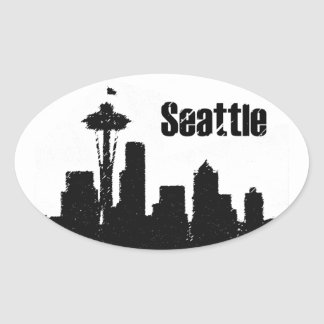 Seattle Oval Sticker