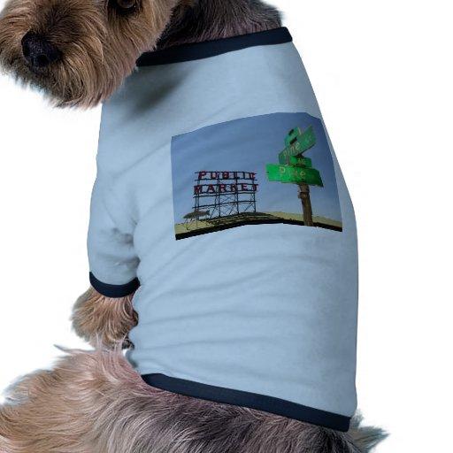 Seattle Pike Place Market Pet Tshirt