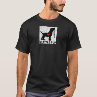 Seattle Pup Mens T-Shirt (black)