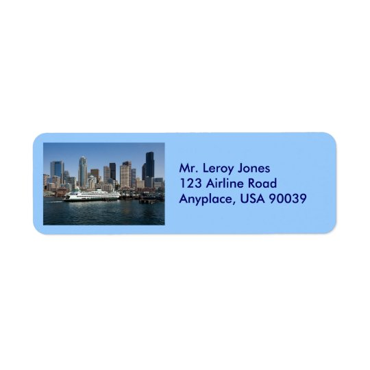 Seattle Return Address Label