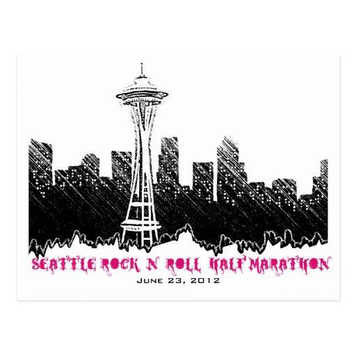 Seattle Rock n Roll Half Marathon 2012 Postcard