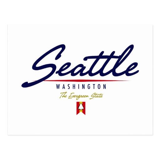 Seattle Script Postcard