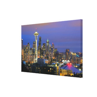 Seattle seen from Kerry Park in Queen Anne Canvas Print