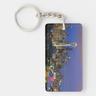 Seattle seen from Kerry Park in Queen Anne Keychain