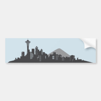Seattle Skyline Bumper Sticker