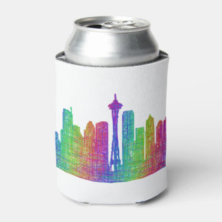 Seattle skyline can cooler