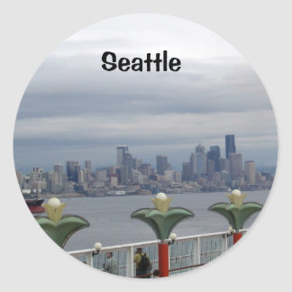Seattle Skyline Classic Round Sticker
