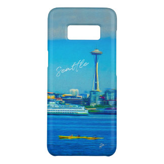 Seattle Skyline Hand Lettered Script Watercolor Case-Mate Samsung Galaxy S8 Case