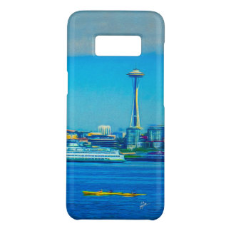 Seattle Skyline Photo Modern Watercolor Unique Case-Mate Samsung Galaxy S8 Case