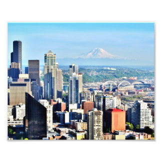Seattle Skyline Photo Print