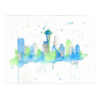 Seattle Skyline Post Card