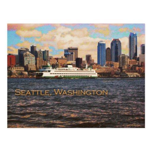 Seattle Skyline Post Cards
