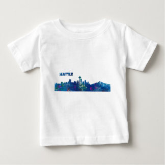 Seattle Skyline Silhouette Baby T-Shirt