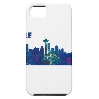 Seattle Skyline Silhouette iPhone 5 Case