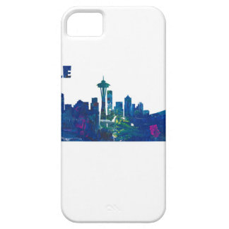 Seattle Skyline Silhouette iPhone 5 Covers