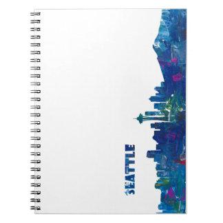 Seattle Skyline Silhouette Notebook