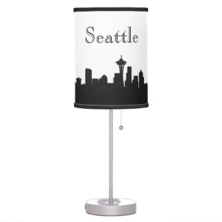 Seattle Skyline Silhouette Table Lamp