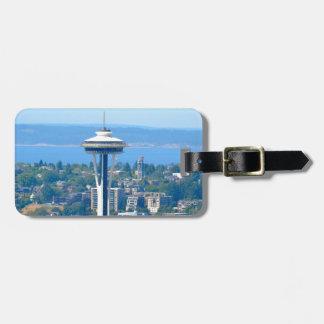 Seattle Skyline Space Needle Luggage Tag