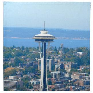 Seattle Skyline Space Needle Napkin