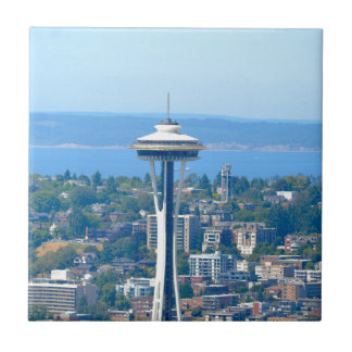 Seattle Skyline Space Needle Tile