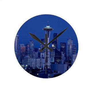 Seattle skyline wallclocks
