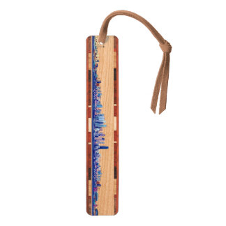 Seattle Skyline Wood Bookmark