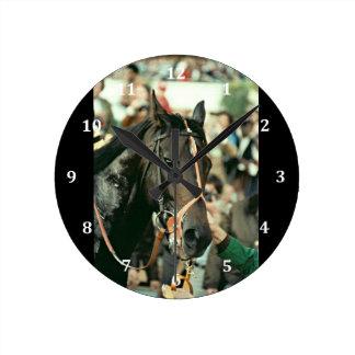 Seattle Slew Thoroughbred 1978 Wall Clocks