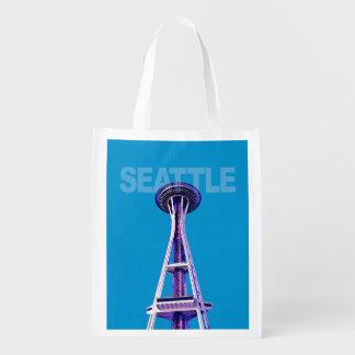 Seattle Space Needle reusable shopping bag