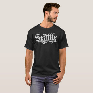 Seattle Tattoo Lettering T-Shirts