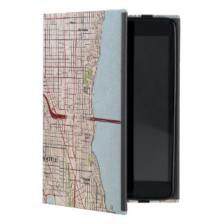 Seattle Topographic City Map Case For iPad Mini