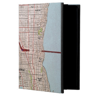 Seattle Topographic City Map iPad Air Cases