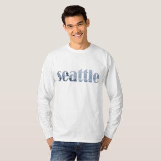 Seattle Vintage Skyline Cyanotype T-Shirt