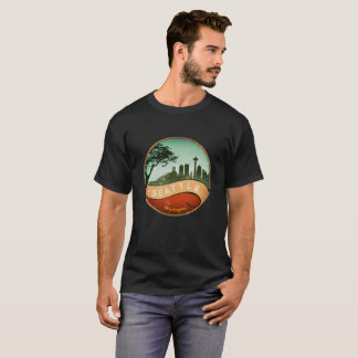 Seattle Vintage skyline T-Shirt