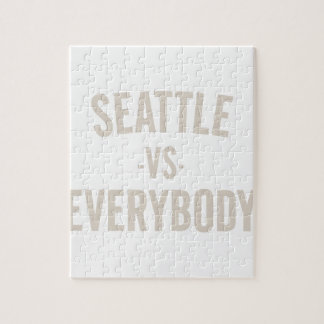 Seattle Vs Everybody Jigsaw Puzzle