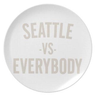 Seattle Vs Everybody Plate